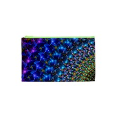 Blue Sunrise Fractal Cosmetic Bag (XS)