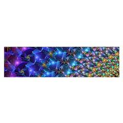 Blue Sunrise Fractal Satin Scarf (Oblong)