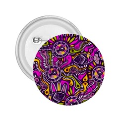 Purple Tribal Abstract Fish 2 25  Button