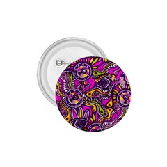 Purple Tribal Abstract Fish 1 75  Button