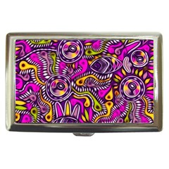 Purple Tribal Abstract Fish Cigarette Money Case