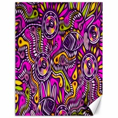 Purple Tribal Abstract Fish Canvas 18  X 24  (unframed)