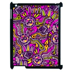 Purple Tribal Abstract Fish Apple Ipad 2 Case (black)