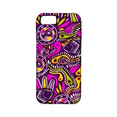 Purple Tribal Abstract Fish Apple Iphone 5 Classic Hardshell Case (pc+silicone)