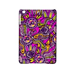 Purple Tribal Abstract Fish Apple Ipad Mini 2 Hardshell Case