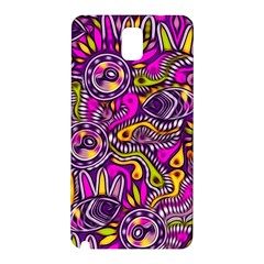 Purple Tribal Abstract Fish Samsung Galaxy Note 3 N9005 Hardshell Back Case