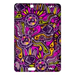 Purple Tribal Abstract Fish Kindle Fire Hd (2013) Hardshell Case