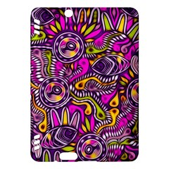 Purple Tribal Abstract Fish Kindle Fire HDX Hardshell Case