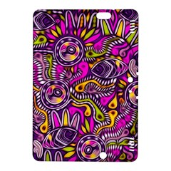 Purple Tribal Abstract Fish Kindle Fire Hdx 8 9  Hardshell Case