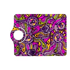 Purple Tribal Abstract Fish Kindle Fire Hd (2013) Flip 360 Case