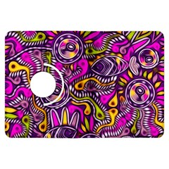 Purple Tribal Abstract Fish Kindle Fire Hdx Flip 360 Case