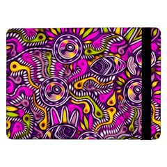 Purple Tribal Abstract Fish Samsung Galaxy Tab Pro 12.2  Flip Case