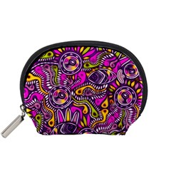 Purple Tribal Abstract Fish Accessory Pouch (small)