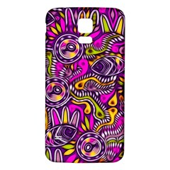 Purple Tribal Abstract Fish Samsung Galaxy S5 Back Case (White)
