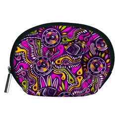 Purple Tribal Abstract Fish Accessory Pouch (medium)