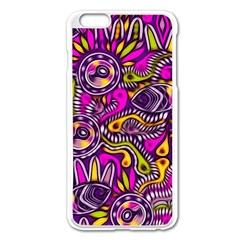 Purple Tribal Abstract Fish Apple iPhone 6 Plus Enamel White Case