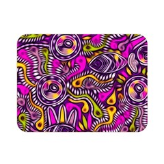 Purple Tribal Abstract Fish Double Sided Flano Blanket (Mini)