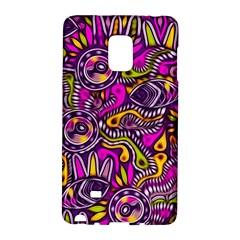 Purple Tribal Abstract Fish Samsung Galaxy Note Edge Hardshell Case