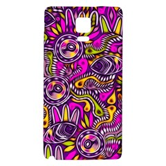 Purple Tribal Abstract Fish Samsung Note 4 Hardshell Back Case