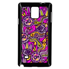 Purple Tribal Abstract Fish Samsung Galaxy Note 4 Case (black)