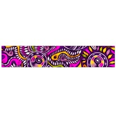 Purple Tribal Abstract Fish Flano Scarf (Large)
