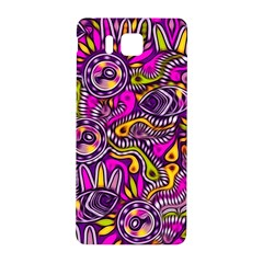 Purple Tribal Abstract Fish Samsung Galaxy Alpha Hardshell Back Case