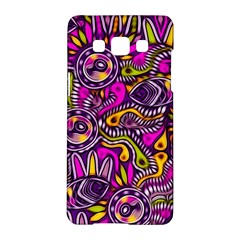 Purple Tribal Abstract Fish Samsung Galaxy A5 Hardshell Case