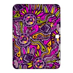 Purple Tribal Abstract Fish Samsung Galaxy Tab 4 (10.1 ) Hardshell Case