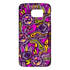 Purple Tribal Abstract Fish Samsung Galaxy S6 Hardshell Case