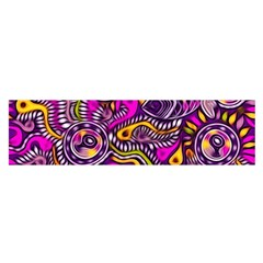 Purple Tribal Abstract Fish Satin Scarf (oblong)