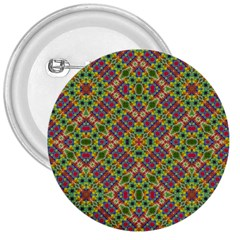 Multicolor Geometric Ethnic Seamless Pattern 3  Button