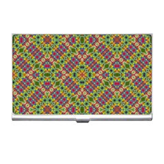 Multicolor Geometric Ethnic Seamless Pattern Business Card Holder