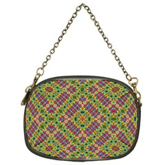 Multicolor Geometric Ethnic Seamless Pattern Chain Purse (one Side)