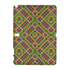 Multicolor Geometric Ethnic Seamless Pattern Samsung Galaxy Note 10.1 (P600) Hardshell Case