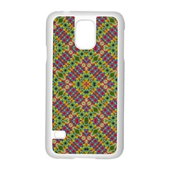 Multicolor Geometric Ethnic Seamless Pattern Samsung Galaxy S5 Case (White)