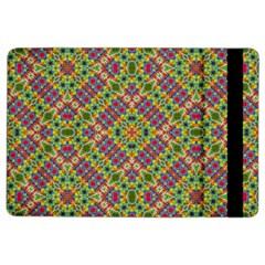 Multicolor Geometric Ethnic Seamless Pattern Apple Ipad Air 2 Flip Case