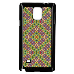 Multicolor Geometric Ethnic Seamless Pattern Samsung Galaxy Note 4 Case (black)