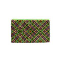 Multicolor Geometric Ethnic Seamless Pattern Cosmetic Bag (XS)