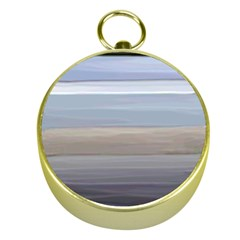 Painted Pompey Beach Gold Compass