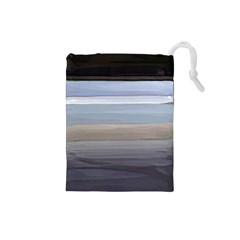 Painted Pompey Beach Drawstring Pouch (Small)
