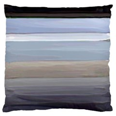 Painted Pompey Beach Large Flano Cushion Case (Two Sides)