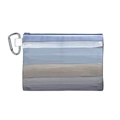 Painted Pompey Beach Canvas Cosmetic Bag (Medium)