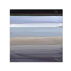 Painted Pompey Beach Small Satin Scarf (square)