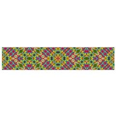 Multicolor Geometric Ethnic  Flano Scarf (Small)