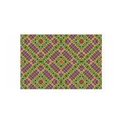 Multicolor Geometric Ethnic  Satin Wrap