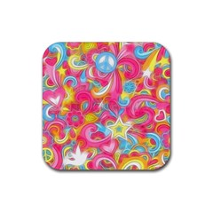 Hippy Peace Swirls Drink Coasters 4 Pack (square)
