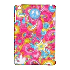 Hippy Peace Swirls Apple Ipad Mini Hardshell Case (compatible With Smart Cover)