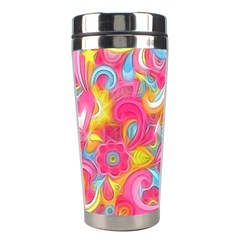 Hippy Peace Swirls Stainless Steel Travel Tumbler