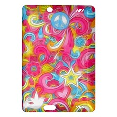 Hippy Peace Swirls Kindle Fire Hd (2013) Hardshell Case