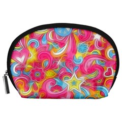 Hippy Peace Swirls Accessory Pouch (Large)